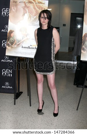 "Kristen Stewart arriving at ""The Yellow Handkerchief"" LA Premiere Pacific Design Center Silver Screen Theater Los Angeles, CA February 18, 2010 - stock photo"