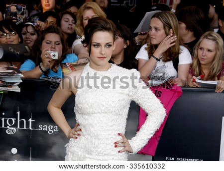 """Kristen Stewart at """"The Twilight Saga: Eclipse"""" Los Angeles Premiere held at the Nokia Live Theater in Los Angeles, California, United States on June 24, 2010.   - stock photo"""