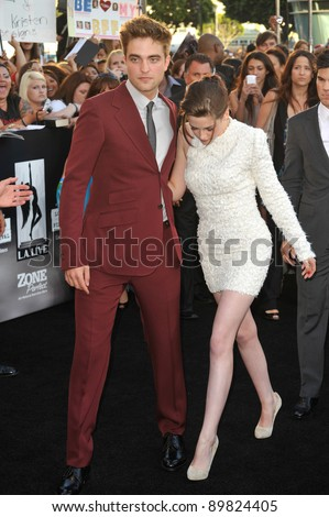 "Kristen Stewart & Robert Pattinson at the premiere of their new movie ""The Twilight Saga: Eclipse"" at the Nokia Theatre at L.A. Live. June 24, 2010  Los Angeles, CA Picture: Paul Smith / Featureflash - stock photo"