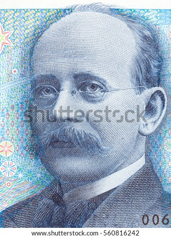 Kristian Birkeland portrait from Norwegian money