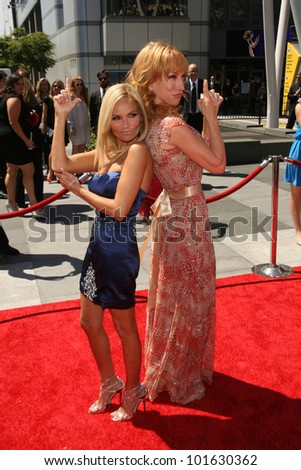 Kristin Chenoweth, Kathy Griffin at the 2010 Primetime Creative Arts Emmy Awards,  Nokia Theater L.A. Live, Los Angeles, CA. 08-21-10