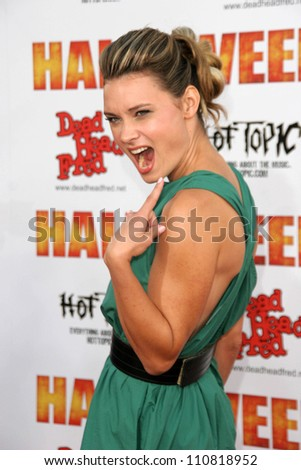"""Kristina Klebe at the Los Angeles Premiere of """"Halloween"""". Grauman's Chinese Theatre, Hollywood, CA. 08-23-07 - stock photo"""