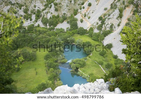 Krupa river canyon in Croatia