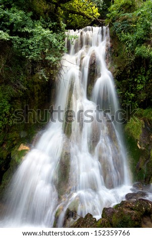 Krushuna's waterfalls, located in Bulgaria are the longest waterfalls cascade on Balkan peninsula - stock photo