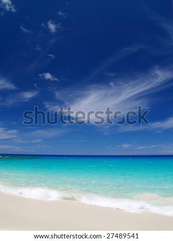 Kua Bay at Big island,Hawaii - stock photo