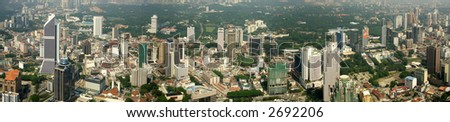 Kuala Lumpur aerial view from TV tower - stock photo