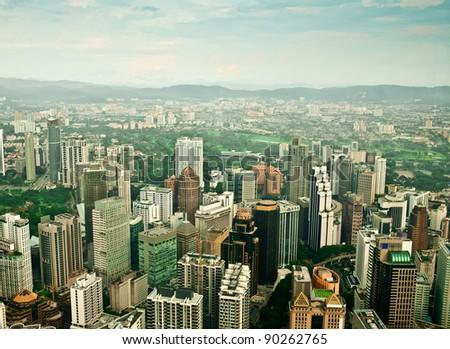 Kuala Lumpur amazing city skyline - stock photo