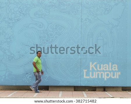 Kuala Lumpur and immigrant people. - stock photo