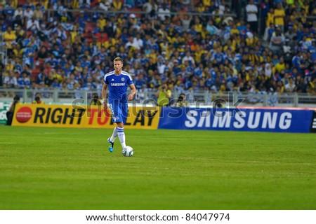KUALA LUMPUR, July 21 : Chelsea's Slobodan Rajkovic in action during a preseason match agains Malaysia on July 21, 2011 in Kuala Lumpur, Malaysia. Chelsea won 1-0 - stock photo