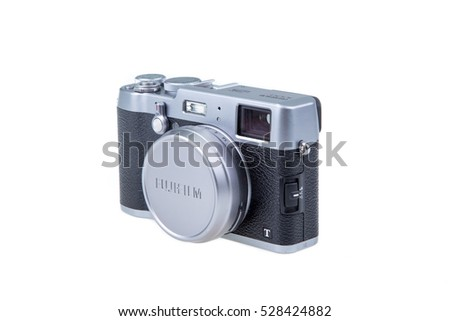 Kuala Lumpur, Malaysia  Dec. 04,2016: Photo of camera FUJIFILM X100T isolated  on white background
