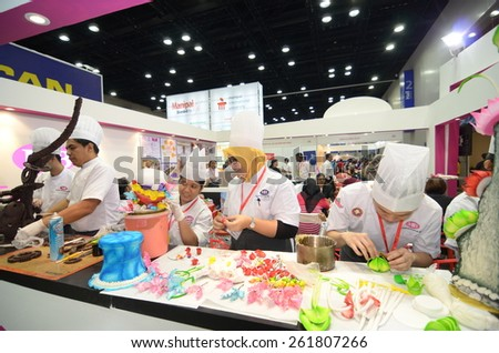 KUALA LUMPUR, MALAYSIA -MARCH 14: Malaysian Institute of Baking promote the exhibition during the Falcon Education Fair 2015 at KL Convention Centre (KLCC) free and open to the public at Kuala Lumpur.