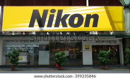 KUALA LUMPUR, MALAYSIA - March 31, 2016. Nikon store in the city center of  Kuala Lumpur. - stock photo