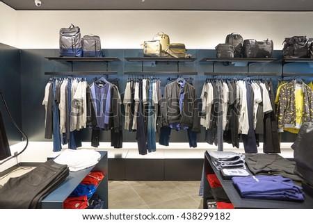 KUALA LUMPUR, MALAYSIA - MAY 09, 2016: Calvin Klein store in Suria KLCC. Calvin Klein Inc. is an American fashion house founded by the fashion designer Calvin Klein. - stock photo