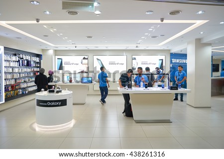 KUALA LUMPUR, MALAYSIA - MAY 09, 2016: interior of the store in Suria KLCC. Suria KLCC is located in the Kuala Lumpur City Centre district. It is in the vicinity of the landmark the Petronas Towers.