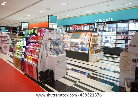 KUALA LUMPUR, MALAYSIA - MAY 09, 2016: Sephora store in Suria KLCC. Suria KLCC is located in the Kuala Lumpur City Centre district. It is in the vicinity of the landmark the Petronas Towers. - stock photo