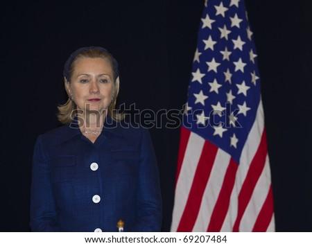 KUALA LUMPUR - NOV. 11 : U.S. Secretary of State Hillary Clinton visits Kuala Lumpur, Malaysia on November 11, 2010. - stock photo