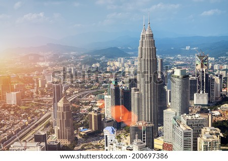 Kuala Lumpur Skyline , Malaysia.  - stock photo