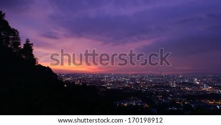 Kuala Lumpur Sunset - stock photo