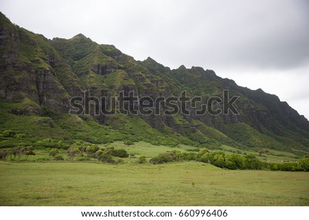 Kualoa Ranch in Oahu Island, Hawaii.