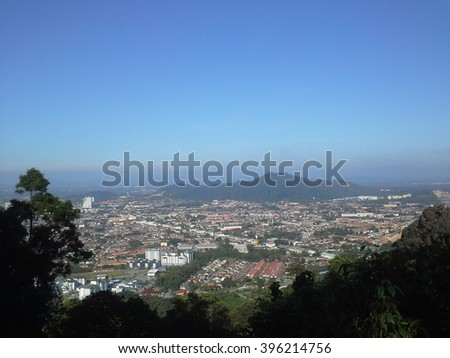 Kuantan city view from Pelindung Hill