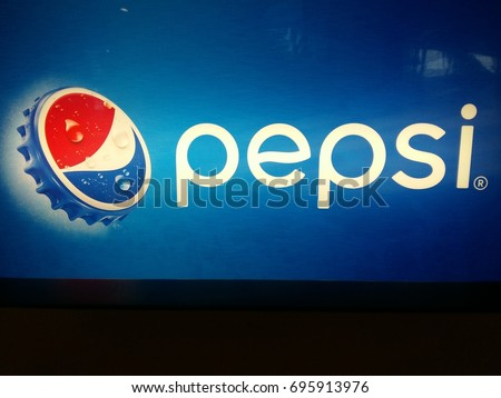 KUANTAN PAHANG MALYSIA,AUGUST 14TH 2017 :Pepsi logo. Pepsi is a carbonated soft drink that is produced and manufactured by PepsiCo.