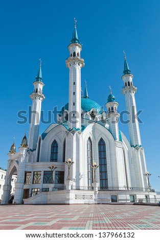 Kul Sharif mosque in Kazan Kremlin. Russia. - stock photo