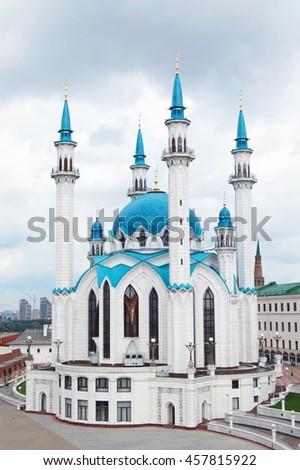 Kul Sharif mosque in the Kazan Kremlin - stock photo