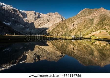 Kulikanon Lake - Fann mountains, Tajikistan, Central Asia - stock photo