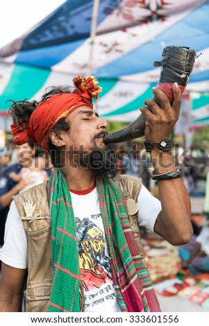 Kushtia, Bangladesh - October 17, 2014: Follower of Lalon shai Mazar who came to the Mazar to show their respect to Lalon shai on the occasion of the anniversary of his death at Kushtia, Bangladesh