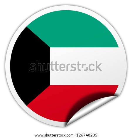Kuwait flag sticker