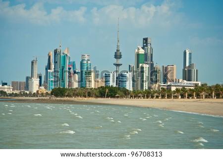 Kuwait skyline - stock photo