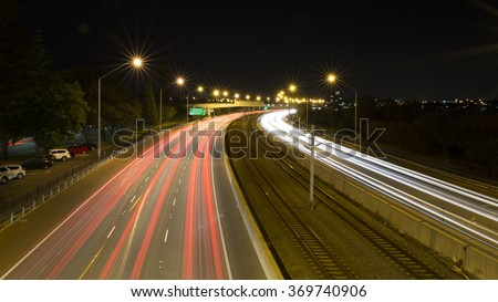 Kwinana Freeway Light Trails