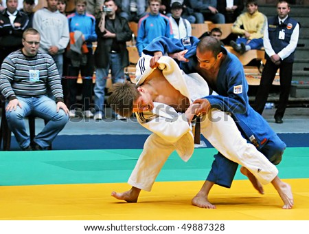 "KYIV, UKRAINE - MAY 13: International tournament category ""A"" of the European Judo Union among juniors  ""Typhoon on tatami"" on May 13, 2007 in Kyiv, Ukraine"