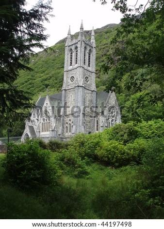 Kylemore Abbey, Ireland - stock photo