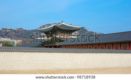 kyongbok palace korea beautiful landscape