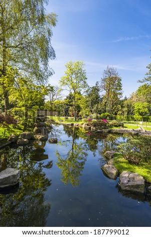 Kyoto Garden in Holland Park, London, UK  - stock photo