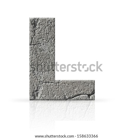 l  letter cracked cement texture