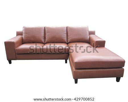 L Shaped Leather Sofa for Interior