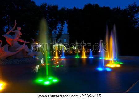 L'viv musical fountain - stock photo