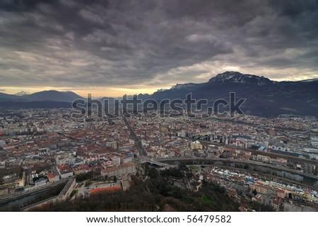 la Bastille at Grenoble, France - stock photo