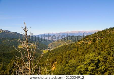 La Cerdanya is a mountainous region of Catalunya - stock photo