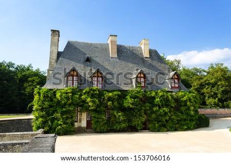 La Chancellerie located outside Chenonceau Castle - France - stock photo