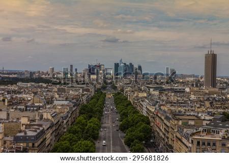 La Defense Paris  - stock photo