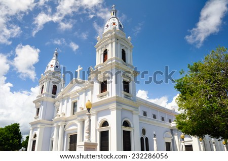 La Guadalupe cathedral, Ponce (Puerto Rico) - stock photo