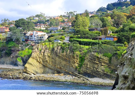La Jolla Coast View (San Diego, California) - stock photo