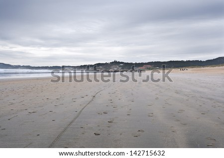 La Lanzada Beach, Pontevedra, Galicia, Spain. It is one of the top three beaches in Galicia