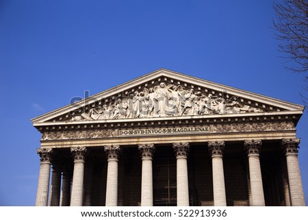 La Madeleine, church in Paris