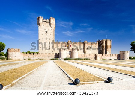 La Mota Castle, Medina del Campo, Valladolid Province, Castile and Leon, Spain - stock photo
