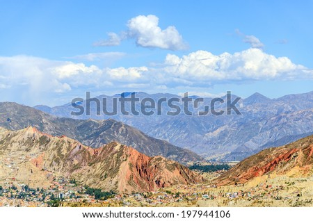 La Paz, Bolivia - general view of city and mountains