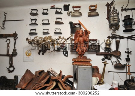 LA PAZ, BOLIVIA - SEPTEMBER 3, 2010: The interior of the restaurant in La Paz. The actual capital of Bolivia, where most of the state institutions and the residence of the President of the country. - stock photo